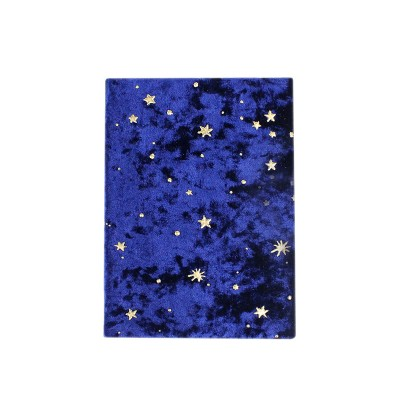 Bronzing Velvet Star And Moon Book Cover Handmade Cloth Book Cover Notebook Cloth Book Cover Book Jacket For Students