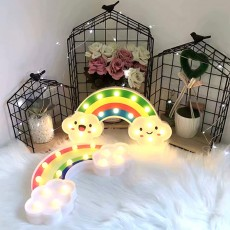 ins Wind LED Rainbow Table Lamp Modeling Lamp Holiday Room Decoration Lamp Indoor Decoration Night Light