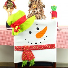 Christmas Supplies Table Decoration Christmas Chair Cover Snowman Chair Cover For New Year