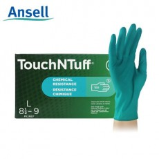 Ansell 92-600 Green Nitrile Powder-free Gloves Anti-chemical Acid and Alkali-proof Packs of 100