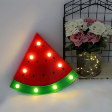 LED Watermelon Modeling Lamp ins Wind Decorative Lamp Table Lamp Luminous Night Light Photo Props Small Lantern String