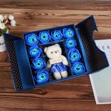 Bear Soap Flower Folio Gift Box Tanabata Valentine's Day Gift Creative Christmas Small Gift Simulation Rose Flower