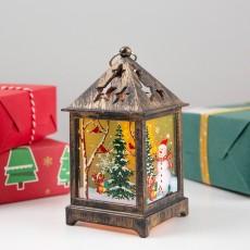 Christmas New Creative Old Man Snowman Night Light Retro Wind Lantern Christmas Decoration Desktop Decoration Light