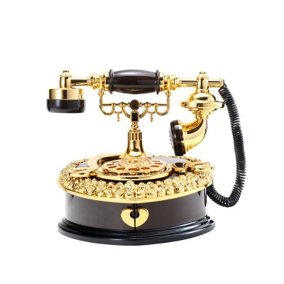 Classical Style Creative Dial Vintage Telephone Music Box Home Wine Cabinet Entrance Decoration Gift