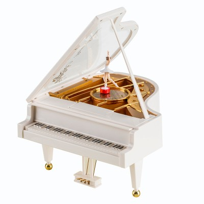 Creative Spinning Dancing Little Girl Piano Music Box Ornaments Children's Students Valentine's Day Birthday Gifts