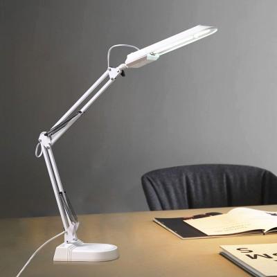 LED Eye Protection Desk Lamp Fluorescent Tube Desk Lamp Learning Office Decoration American Long Arm Clip Duckbill Desktop Desk Lamp