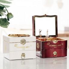 Classical Elegant Violin Quartet Jewelry Box Creative Rotating Dancing Girl Music Box Music Box Boutique