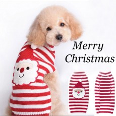 Santa Claus Pet Sweater Cats And Dogs Clothes Knitted VIP Teddy Small Medium And Large Dogs