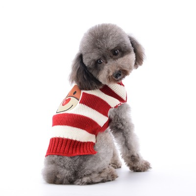 Dog Dlothes Spring And Autumn Teddy VIP Puppy Sweater New Year Christmas Pet Clothes Two-Legged Costume