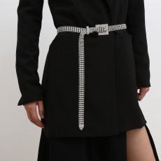 Sexy All-match Claw Chain Diamond Body Chain Female Personality Fashion Micro-inlaid Rhinestone Geometric Belt Jewelry