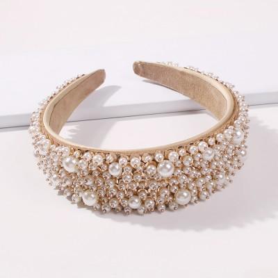 Exquisite Beaded Rhinestone Hair Accessories Female Baroque Luxury Full Diamond Retro Wide Hair Band