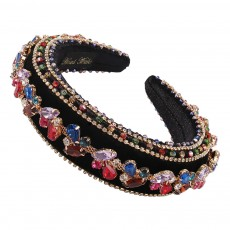 Fashionable Broad-rim Diamond-studded Hair Band Alloy Personality Ladies Street Selling Crystal Hair Accessories