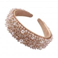 Cross-border Exquisite Beaded Rhinestone Hair Accessories Female Baroque Luxury Full Diamond Retro Wide Hair Band