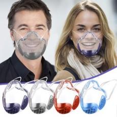 PC Mask Lip Language Mask Transparent Protective Splash-proof Isolation Mask, Ultra-clear and Transparent MOQ 2pcs