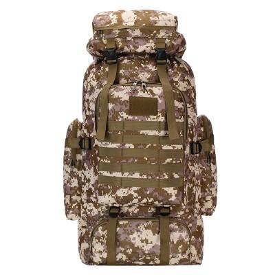 Adjustable Outdoor Tactical Camouflage Sports Backpack 80L Waterproof Mountaineering Bag Hiking Bag Adjustable
