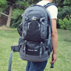 60L Outdoor Mountaineering Bag Waterproof Nylon Travel Bag Couple Shoulder Leisure Sports Backpack Travel Bag
