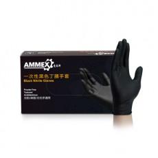 AMMEX Oil-proof and Non-slip Nitrile Black Hemp Gloves, Oil-resistant Disposable Nitrile Rubber Gloves MOQ 2 boxes