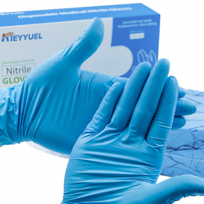 KIEYYUEL Disposable Nitrile Gloves Thickened and Durable Non Powder Finger Hemp Anti Slip Rubber Gloves