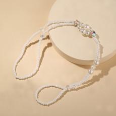 Summer Fresh Pearl Diamond Crystal Beaded Anklet Beach Simple Sexy Toe Chain