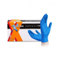AMMEX XNFT Disposable Nitrile Gloves Powder-free Thickened Laboratory Solvent Acid and Alkali Resistant Gloves