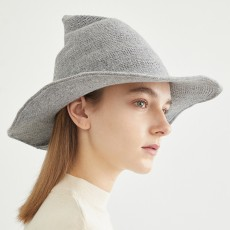Trendy New High-quality Knitted Hat, Wool Top Hat, Warm Hat, Wizard Hat, Top Hat, Cashmere Hat For Women