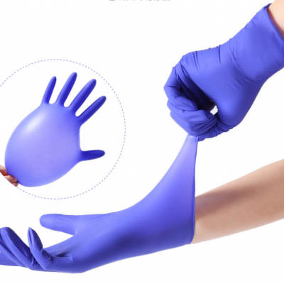 Disposable Nitrile Gloves Can Touch The Screen Powder Free Household Food Grade Waterproof And Oil Proof Isolation Protective Gloves MOQ 5 BOXES