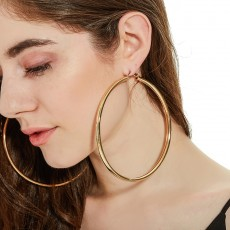 Exaggerated Popular Jewelry Big Hoop Earrings 110mm Ear Hoop Punk Earrings For Ladies