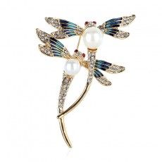 2020 High-end Vintage Dragonfly Coat Accessories  Brooch  With Animal Design
