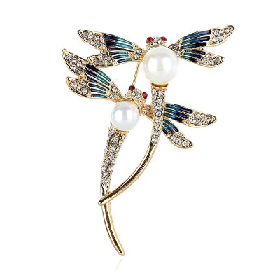 2021 High-end Vintage Dragonfly Coat Accessories  Brooch  With Animal Design