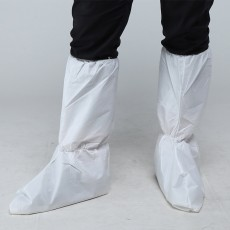 Disposable Protective Non-woven Cloth Lengthened Thick Isolation White Wear-resisting Non-slip High Boots Overshoes MOQ 10PCS