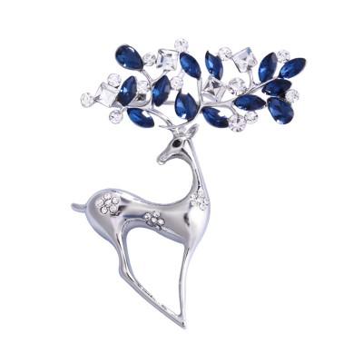 Creative Fawn Brooch Korean Alloy Diamond Animal Brooch Crystal Brooch