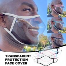 Manufacturers Supply Adult Lip Dust-proof Smog-proof Spit-proof PVC Transparent Protective Masks MOQ 10pcs