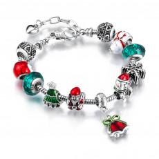 Handmade DIY Bracelet Christmas Ornaments Santa Bells Alloy Big Bead Bracelet