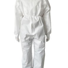Spot PP Non-woven Coated Protective Clothing Long Waterproof and Dustproof Disposable Isolation Suit