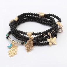 Bohemian Fashion Rice Beads Beaded Multilayer Elastic Bracelet Personality Buddha Heart Beaded Ethnic Bracelet