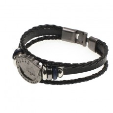 Poker Handmade Vintage Leather Bracelet Vintage Braided Leather DIY Bracelet With Multi-layer Design