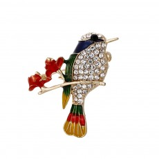 Animal Corsage Clothing Color Dripping Oil Bird Parrot Brooch Suit Sccessories For Women