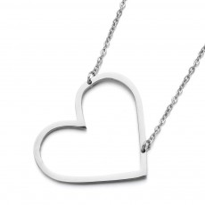 Romantic Stainless Steel Chain Steel Unfade Color , Simple Temperament Love Heart Necklace For Female