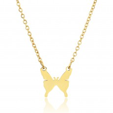 Simple Stainless Steel Butterfly Necklace Jewelry Female Giveaway Valentine's Day Gift For Girls