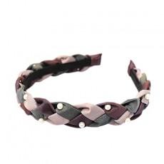 Simple Twist Hand-woven Pearl Headband Headdress Jewelry Sweet Princess Style For Ladies