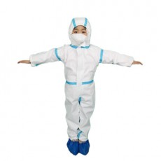 Disposable Children's Protective Clothing Non-woven Cloth with a Cap Isolation Clothing Epidemic Prevention Laboratory