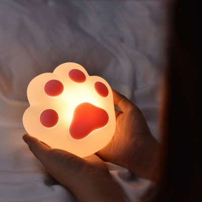 Creative Cat Claw Silicone Night Light USB Charging Bedroom Magnetic Wall Lamp Cartoon Smart Home LED Reading Lamp