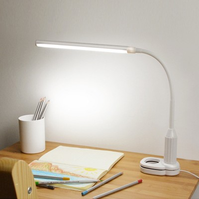 Clip Desk Lamp Led Mini Book Clip Lamp Student Dormitory Study Bedroom Bedside Lamp Plug-in Touch Stepless Dimming