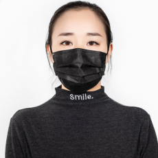 One Time Three-layer Black and White 10 Pack Manufacturer's Mail Protection Civil Adult Face Mask