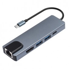 ViBAO TY15 Vibao Type-c 5-in-1 Docking Station with PD Charging/network Card Hub