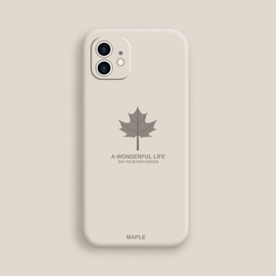 Maple Leaf Design Phone Case Suitable For Apple 11New Straight Side 11pro 11promax All-inclusive Anti-fall Camera Mirror XR