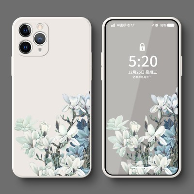 Clear White Cloud Orchid Flowering  Phone Case Suitable For iphone11 11pro Xr Customized X New Version Straight Edge Soft Case