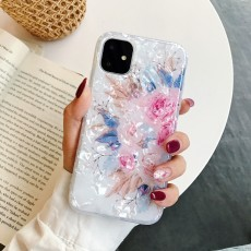 Fashional Sunflower Shell Pattern Colorful Flower IMD Mobile Phone Protective Case TPU For Iphone