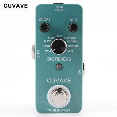 CUVAVE Guitar Stomp Dig Reverb Recording Reverberation Digital Audio Processor