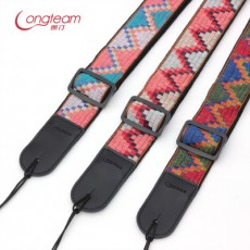Bohemian Style Electric Guitar Leather Head Strap Ethnic Style Folk Acoustic Guitar Bass Tail Nail Shoulder Strap